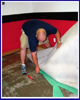 Fire damaged carpet removal in NYC-image